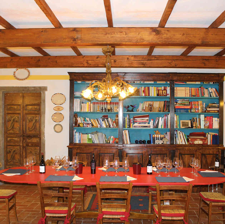 Podere Fedespina: sala degustazioni